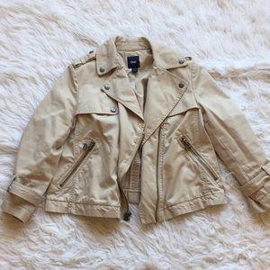 GAP Tan Cropped Trench Jacket Sz:S